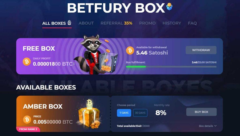 Betfury box